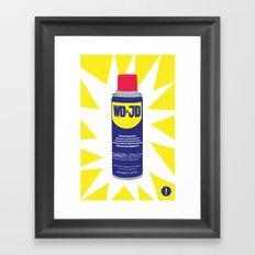 WDJD Stops Sqeaks Framed Art Print