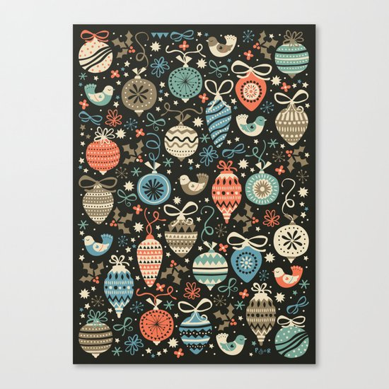 Festive Folk Charms Canvas Print