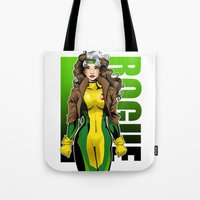 rogue Tote Bags featuring Rogue by Genevieve Kay