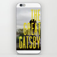 gatsby iPhone & iPod Skins featuring What Gatsby by Kaila D'Amato