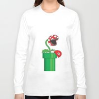 mario Long Sleeve T-shirts featuring mario by Molnár Roland