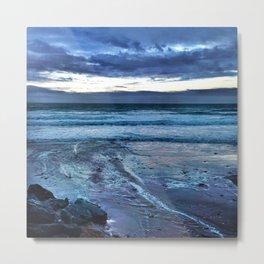 Ocean blues on the Cornwall Coast Metal Print