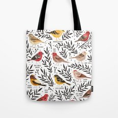 Finches of North American Field Guide Tote Bag