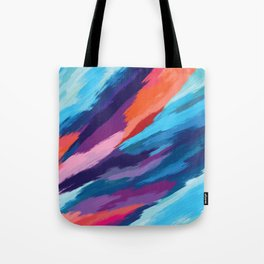 Colorful Brushstroke Digital Painting Tote Bag