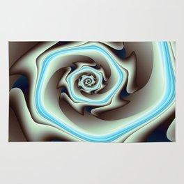 Abstract Geometric Swirl with Blue Rug
