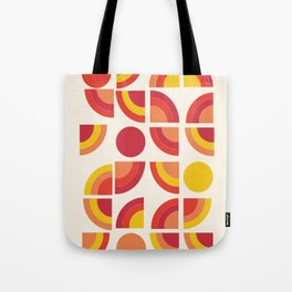 Boogie - abstract retro minimalist 70s 1970s style pattern art 70's 1970's Tote Bag