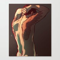 tattoos Canvas Prints featuring Wing Tattoos by rdjpwns