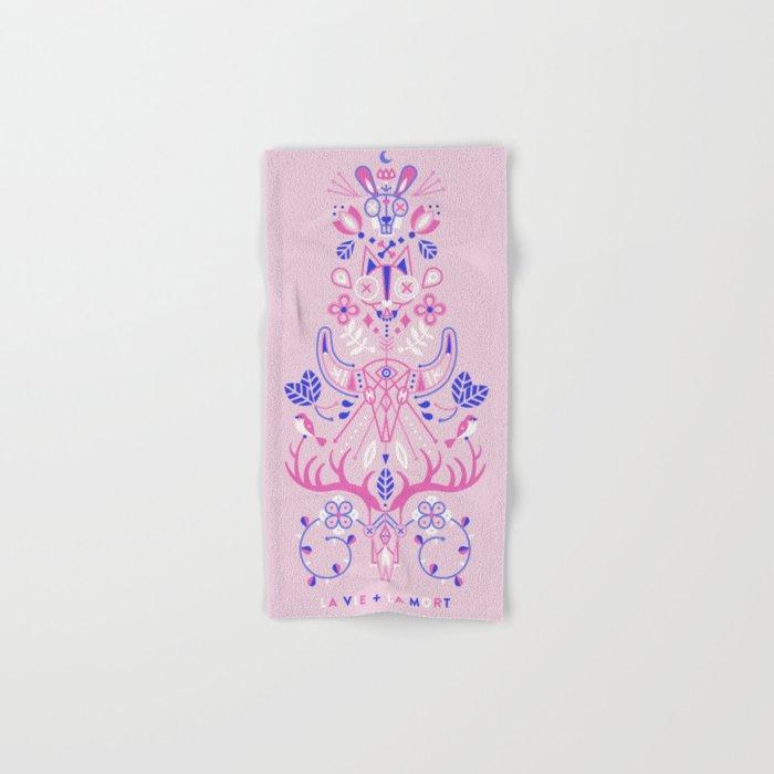La Vie & La Mort – Pink & Periwinkle Hand & Bath Towel