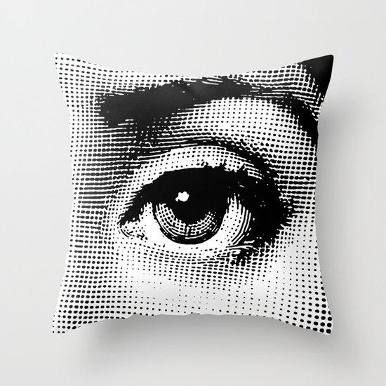 Lina Cavalieri Eye 02 Throw Pillow