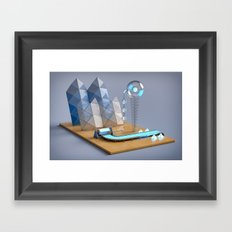 Polygon Plotter Framed Art Print