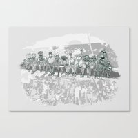 muppet Canvas Prints featuring Muppet Builders by Thomas Orrow