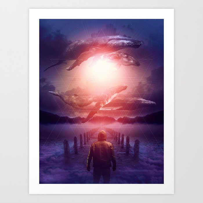 The Space Between Dreams & Reality Art Print
