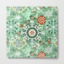 snow in garden Metal Print