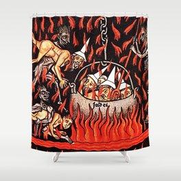 Devils cooking Dunces Shower Curtain