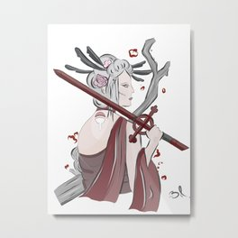 Demon Blood Geisha Metal Print