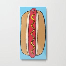 Happy Hot Dog Metal Print