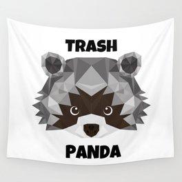Trash Panda. cartoon cute funny retro raccoon face Wall Tapestry