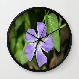 Lilac Periwinkle Wall Clock