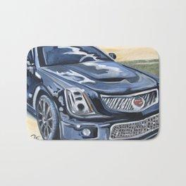 Black on Black {Cadillac CTS Painting} Bath Mat