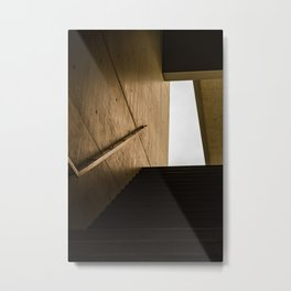 Staircase in golden hour minimalist architecture feature Metal Print