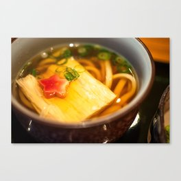 Udon noodle soup served in Kyoto, Japan Canvas Print
