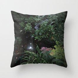 Secret Garden Fairy Faeries Fantasy Magic Flowers Nature Photography Throw Pillow