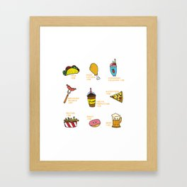 Calorie Counting Junk Food Framed Art Print