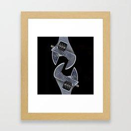 Interlocked Framed Art Print