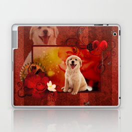 Sweet golden retriever Laptop & iPad Skin