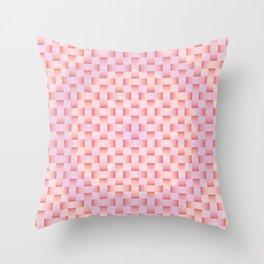PRETTY PINK RIBBON WEAVE WREATH PATTERN Throw Pillow