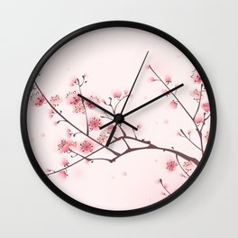 Oriental cheery blossom in spring 006 Wall Clock