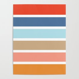 Six Stripes Poster