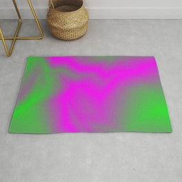 Blurry outlines of lightning with a swirling gap. Rug