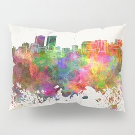Baton Rouge skyline in watercolor background Pillow Sham