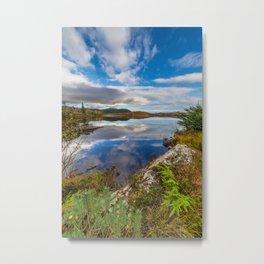 Bodgynydd Lake Snowdonia Metal Print