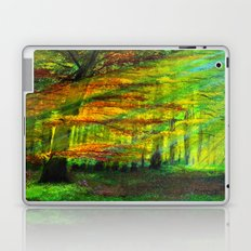 Sunlit trees Laptop & iPad Skin