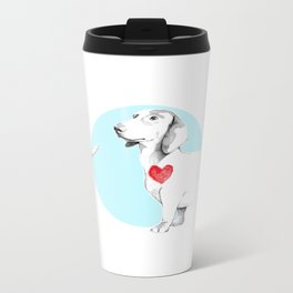 Long dog Metal Travel Mug
