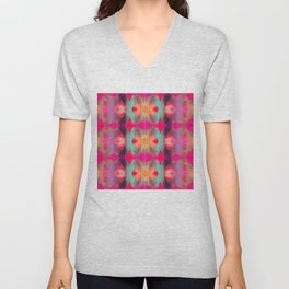 Watercolor Ikat Unisex V-Neck