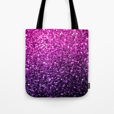 Purple Pink Ombre glitter sparkles Tote Bag