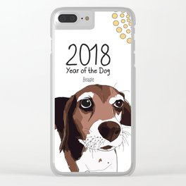 Year of the Dog - Beagle Clear iPhone Case