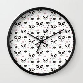 Pandas pattern Wall Clock