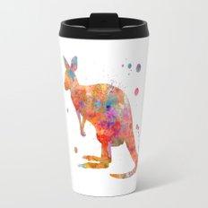 Colorful Kangaroo Travel Mug