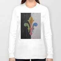 fleur de lis Long Sleeve T-shirts featuring Fleur de Lis by Michael Creese