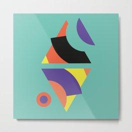 Geometric Memphis - Modern Memphis Milano tropical minimal tribal african geo summer scandinavian Metal Print