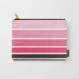 Pink Minimalist Watercolor Mid Century Staggered Stripes Rothko Color Block Geometric Art Carry-All Pouch