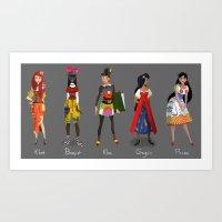 ART Girls Art Print