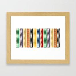 Hip Pattern Framed Art Print