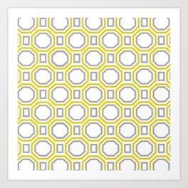 Gold Harmony in Symmetry Art Print