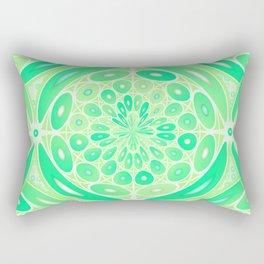 Kiwi green geometric Rectangular Pillow