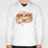 grafitti Hoodies featuring Eyes! Watercolor, acuarela by Carol MoTa